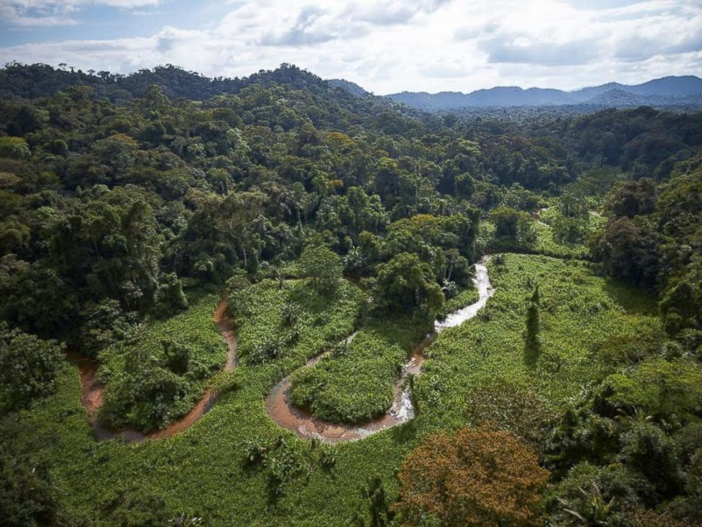 """PHOTO: A stream winds through part of an unexplored valley in Mosquitia in eastern Honduras, a region long rumored to contain a legendary """"White City,"""" also called the City of the Monkey God."""