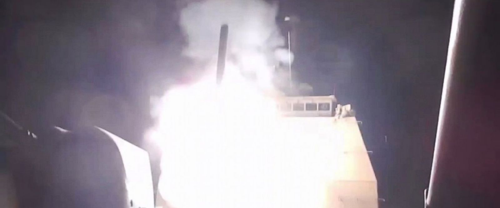 PHOTO: The guided-missile cruiser USS Philippine Sea launches Tomahawk Land-Attack Missiles against ISIS targets.