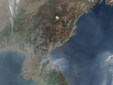 Satellite Image Captures Fires Raging Across North Korea