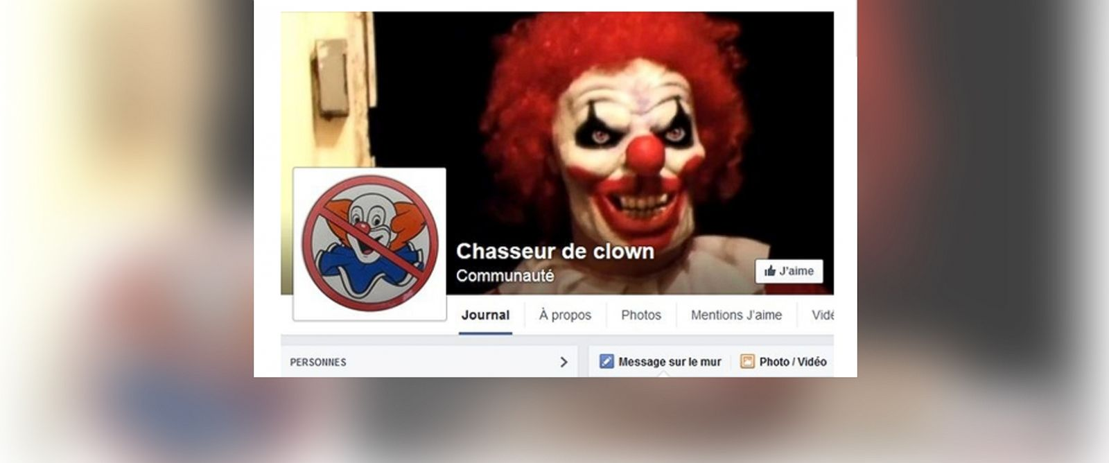 PHOTO: The National Police Ministry of Interior reports that they have received numerous reports of clowns frightening passersby in parts of France, Oct. 27, 2014.