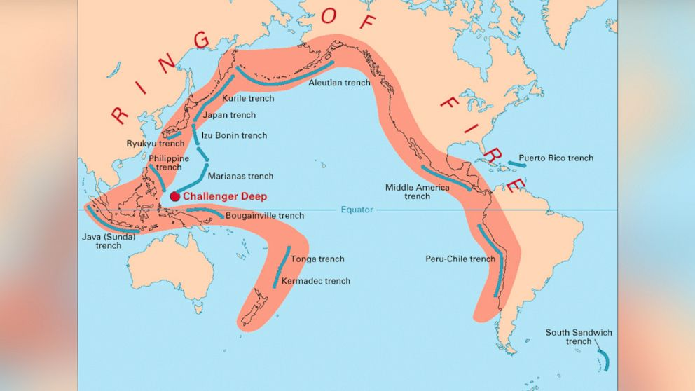 Pacific Ring Of Fire Videos At ABC News Video Archive At Abcnewscom - Fire map southeast us