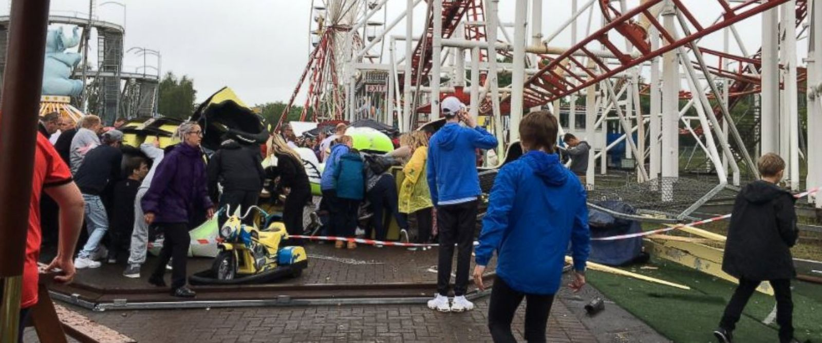 PHOTO: Emergency Services are responding to an ongoing incident at M&D Theme Park in Motherwell, Scotland.