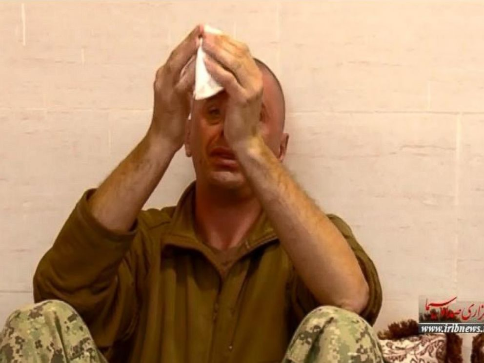 Iranian media released this video Feb. 10, 2016 of what they say is an American sailor crying while detained by Iran. A DoD official says the video appears to be similar to previous propaganda videos showing the detained RCB sailors released by Iran.
