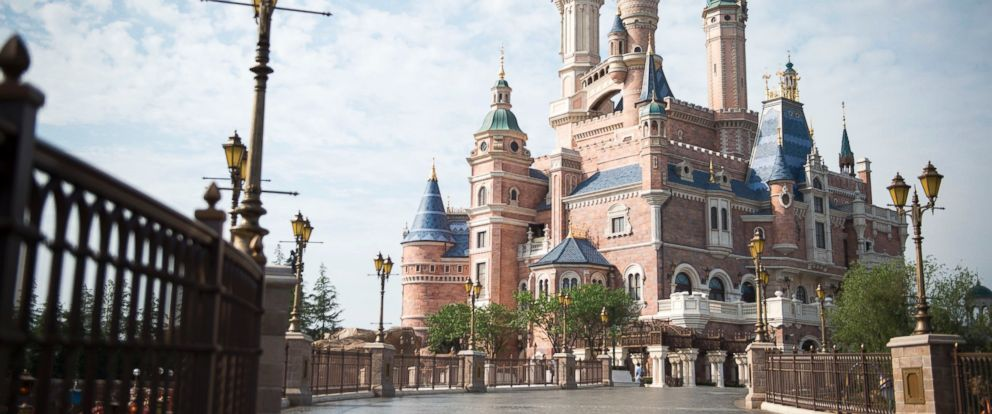 PHOTO: The Enchanted Storybook Castle at Shanghai Disney Resort is pictured in an undated handout photo.