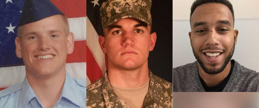 PHOTO: (L-R) Undated photos of Spencer Stone, Alek Skarlatos and Anthony Sadler. They are credited with stopping an attack on board a train bound for Paris, Aug. 21, 2015.
