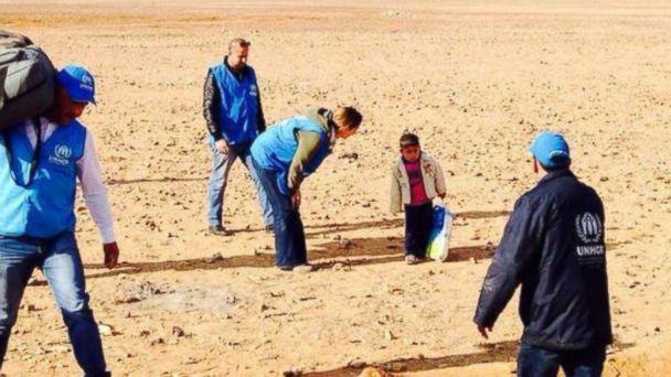 HT syria crossing mar 140217 16x9 608 Boy, 4, Found Wandering Desert in Jordan