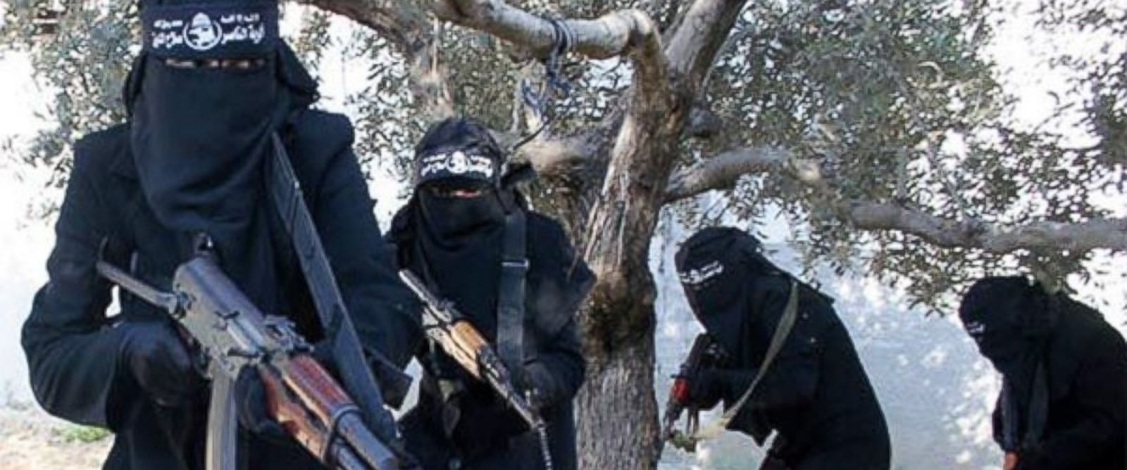 PHOTO: Members of the al-Khansaa Brigade, ISIS all-female unit operating in Raqqa, Syria.
