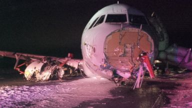 PHOTO: An Air Canada plane crashed landed at the Halifax international airport on March 29, 2015, injuring several people on board.