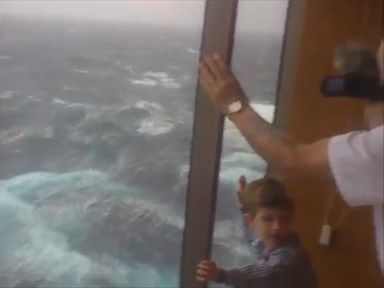 PHOTO: A still image from video footage shot onboard the Carnival Spirit cruise ship