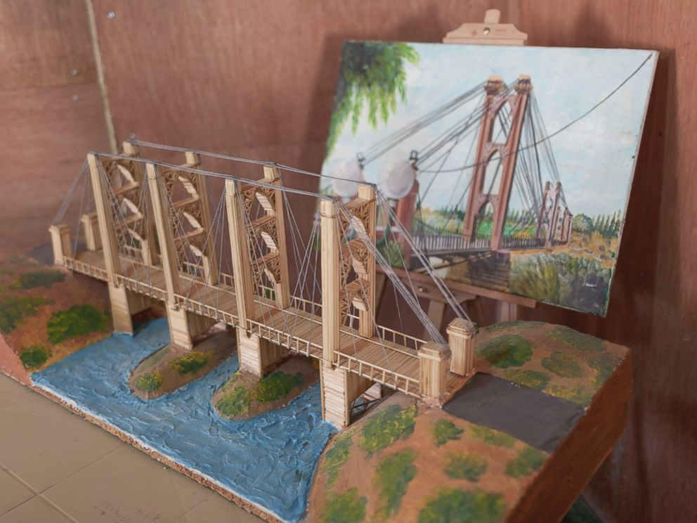 PHOTO: The Deir ez-Zor suspension bridge is one of the miniature replicas displayed at the community centre.
