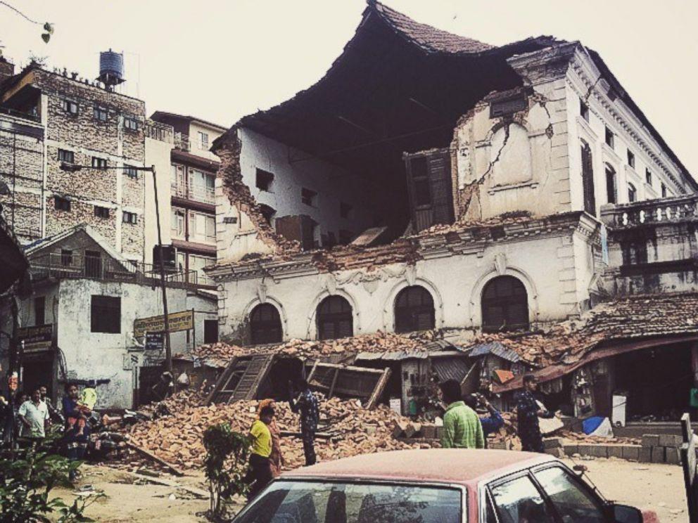 PHOTO: Damage in the city of Kathmandu after a massive earthquake strikes Nepal.