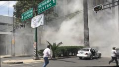 Earthquake drills were held in Mexico City earlier in the day.