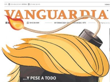 PHOTO: The front page of Mexican newspaper Vanguardia on the day of Donald Trumps presidential inauguration, Jan. 20, 2017.