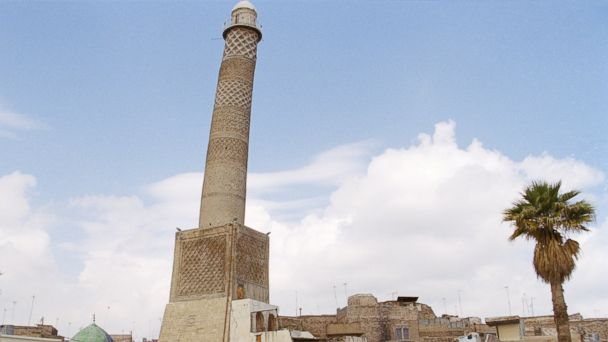 PHOTO: The Great Mosque of al-Nuri and its famous leaning minaret is seen in Mosul, Iraq in this March 1998 file photo.
