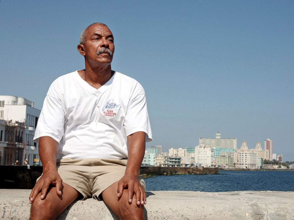PHOTO: Charlie Hill, on the wall of the coastal Malecon Avenue in Havana, Cuba, May 5, 2007.