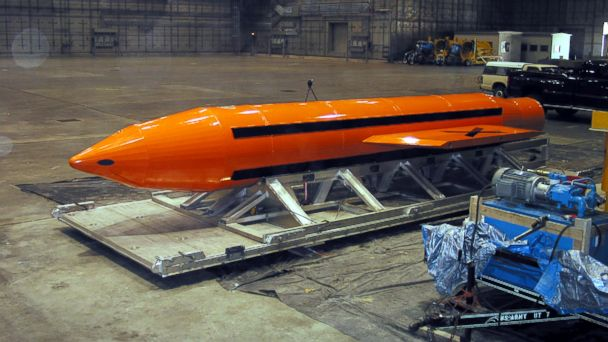 PHOTO: A Massive Ordnance Air Blast (MOAB) weapon is prepared for testing at