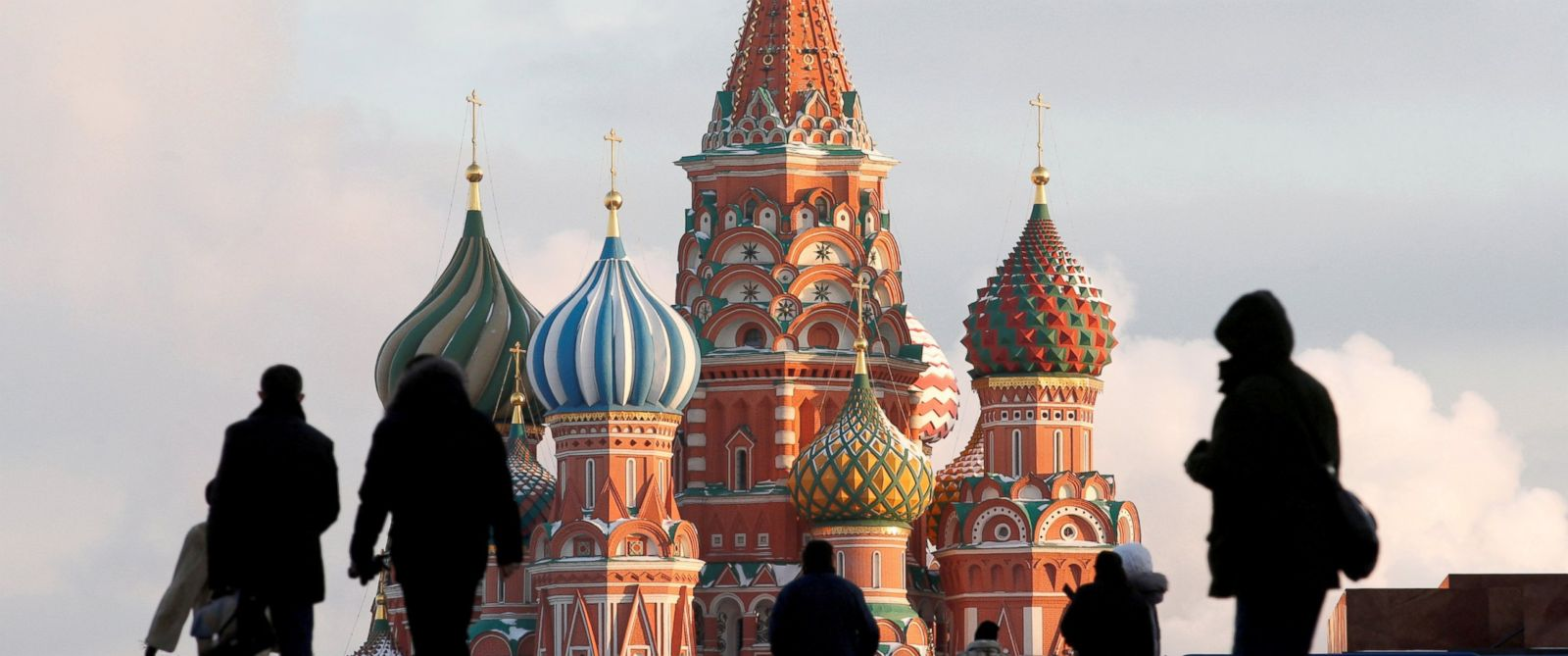 PHOTO: People walk in Red Square in Moscow, Russia, Feb. 6, 2015.