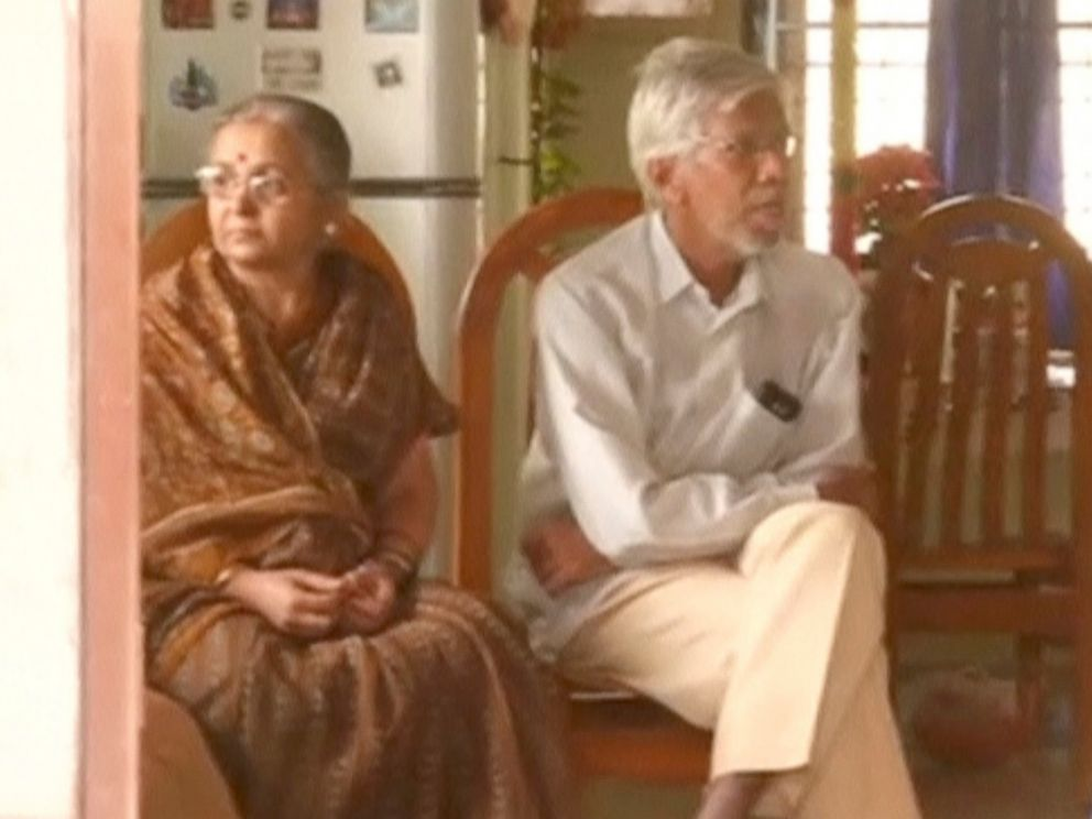 PHOTO: A still image taken from a video shows relatives of Srinivas Kuchibhotla, who was shot dead in a possible hate crime in Kansas, siting in their home in Hyderabad, Telangana, India, Feb. 24, 2017.