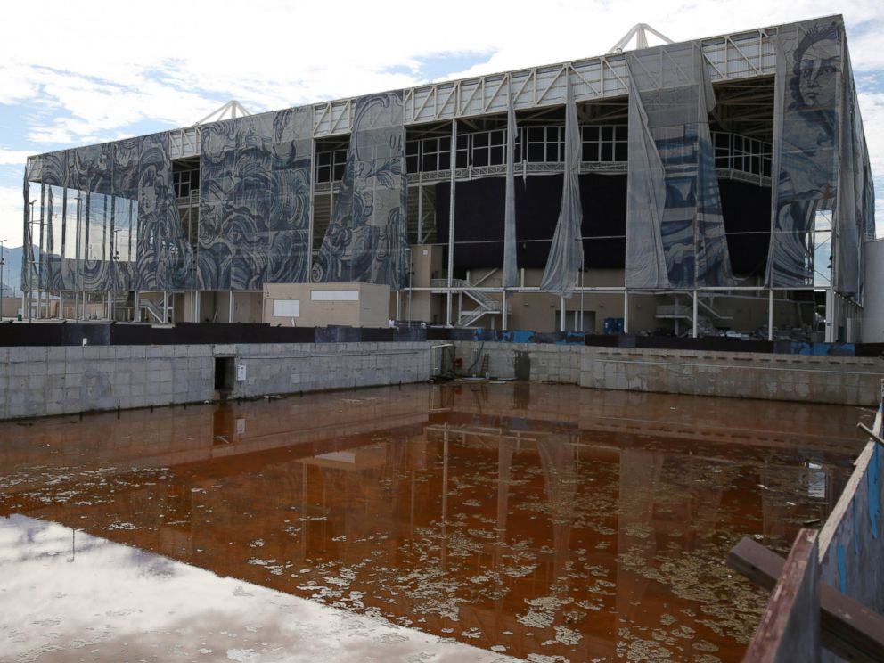 PHOTO: A view of the Olympic Aquatics Stadium, which was used for the Rio 2016 Olympic Games, is seen in Rio de Janeiro, Brazil, Feb. 5, 2017.
