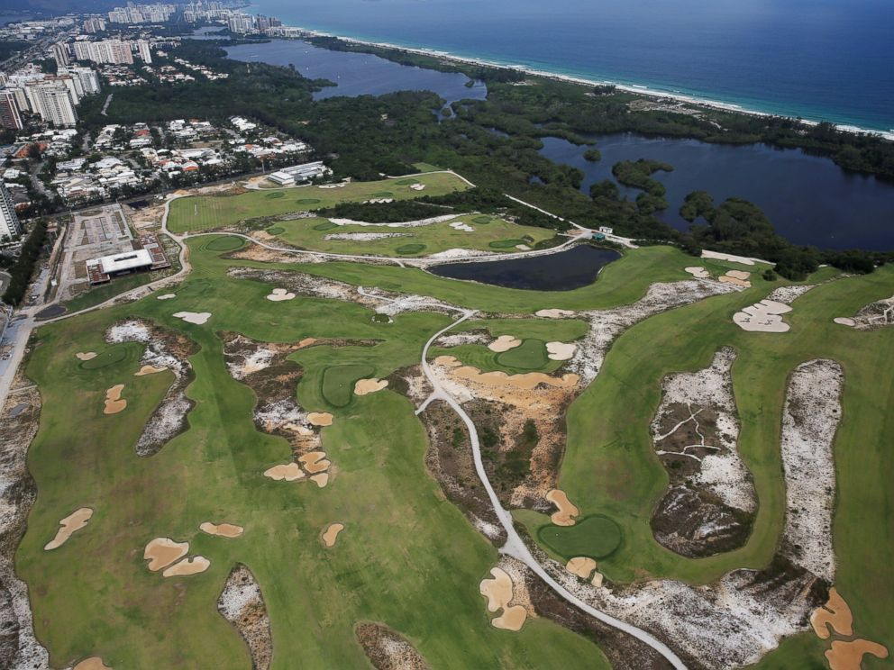 PHOTO: An aerial view shows the 2016 Rio Olympics golf venue which was used for the Rio 2016 Olympic Games, in Rio de Janeiro, Brazil, Jan. 15, 2017.