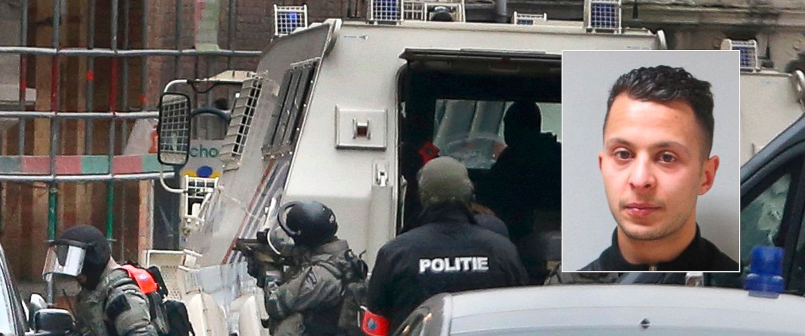 PHOTO: Police at the scene of a security operation in the Brussels suburb of Brussels, Belgium, March 18, 2016. A Belgian Federal Police photo shows 26-year old Salah Abdeslam, who police believe took part in the recent terror attacks in Paris.
