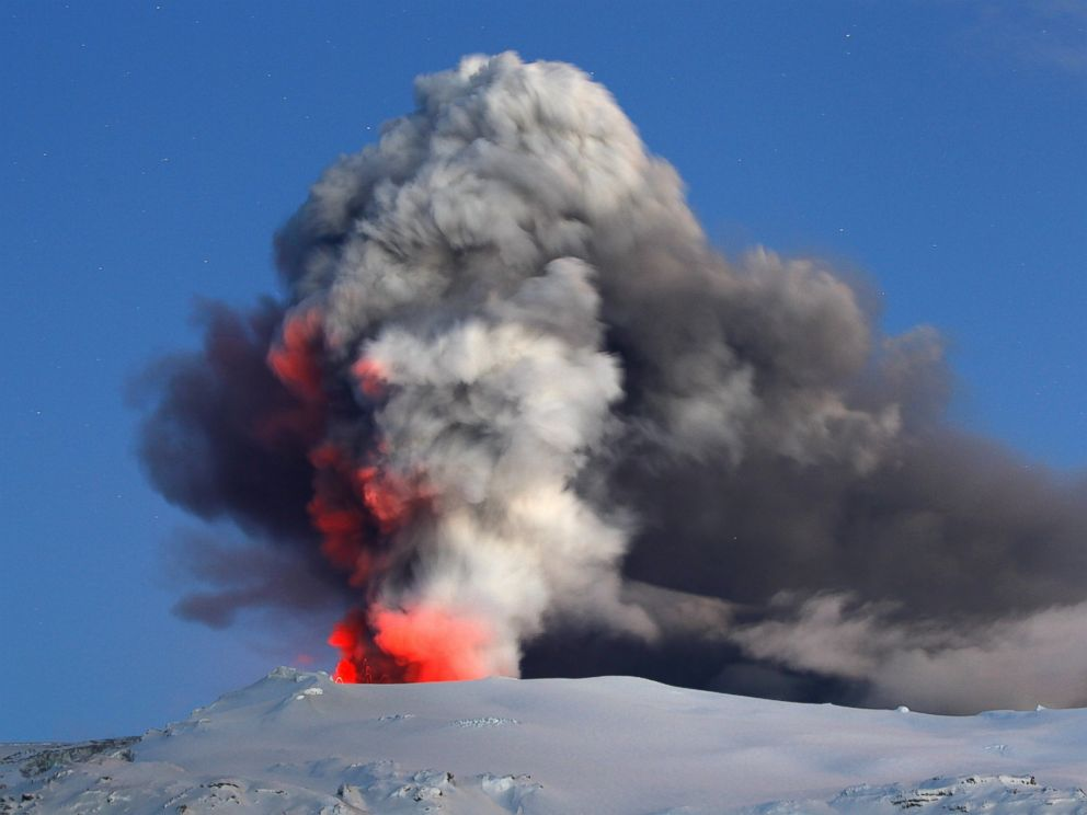 PHOTO: Lava and ash explode out of the caldera of Icelands Eyjafjallajokull volcano in this file photo, April 22, 2010.