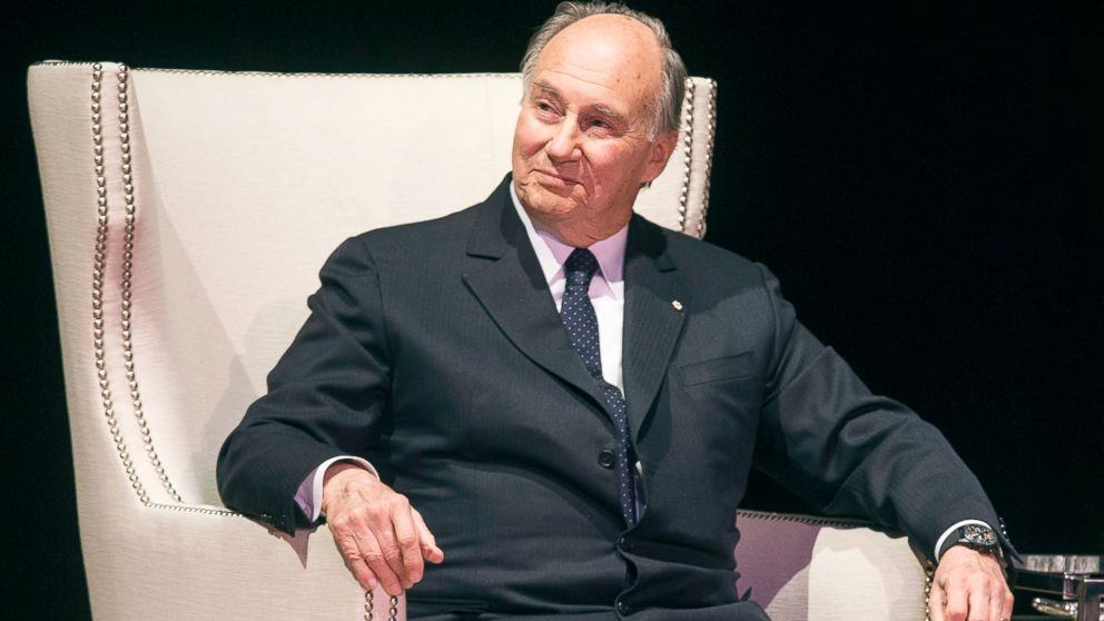 PHOTO: The Aga Khan, spiritual leader of Ismaili Muslims, looks on during a speaking event at Massey Hall in Toronto, Feb. 28, 2014.