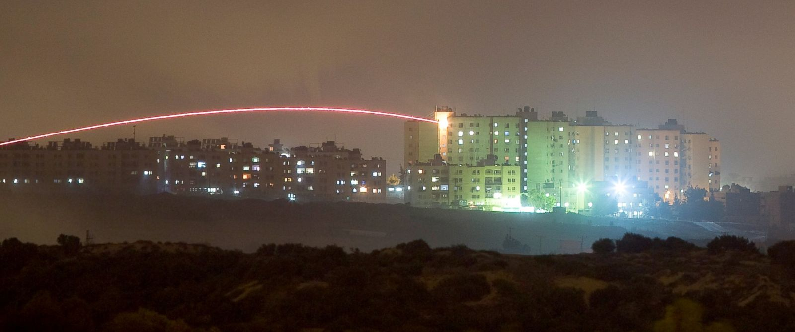 PHOTO: An Israeli rocket is fired into the northern Gaza Strip, July 17, 2014.