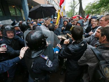 Pro-Russian Demonstrators Storm Police HQ in Odessa