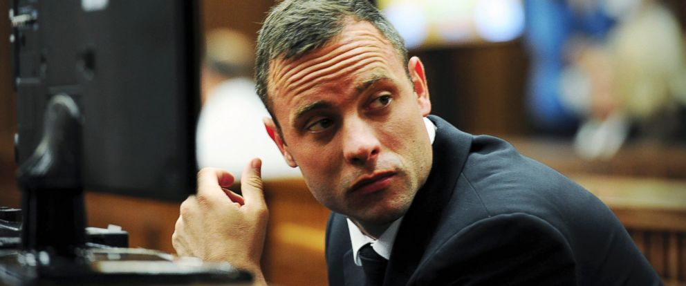 PHOTO: Oscar Pistorius sits in court during proceedings at the North Gauteng High Court in Pretoria, March 19, 2014.