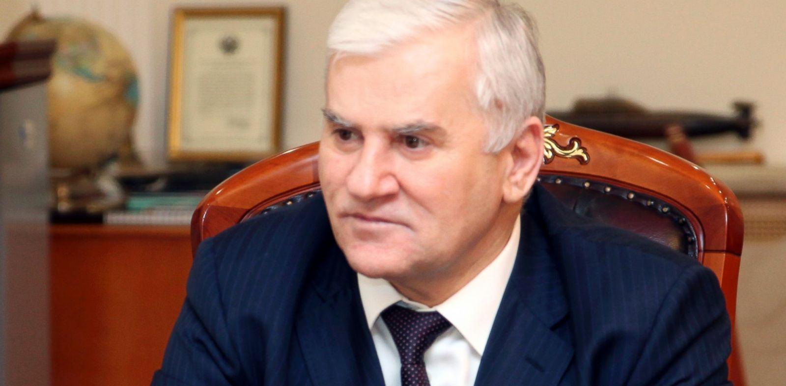 PHOTO: Mayor of Makhachkala Said Amirov speaks at his office in Makhachkala April 25, 2013.