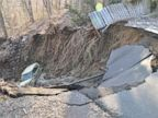 PHOTO: Sinkhole in New Jersey Causes Evacuations