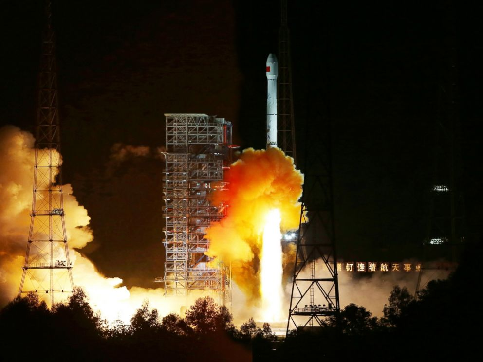 PHOTO: A Long March 3C rocket carrying an experimental spacecraft lifts off from the launch pad at the Xichang Satellite Launch Center, Oct. 24, 2014.