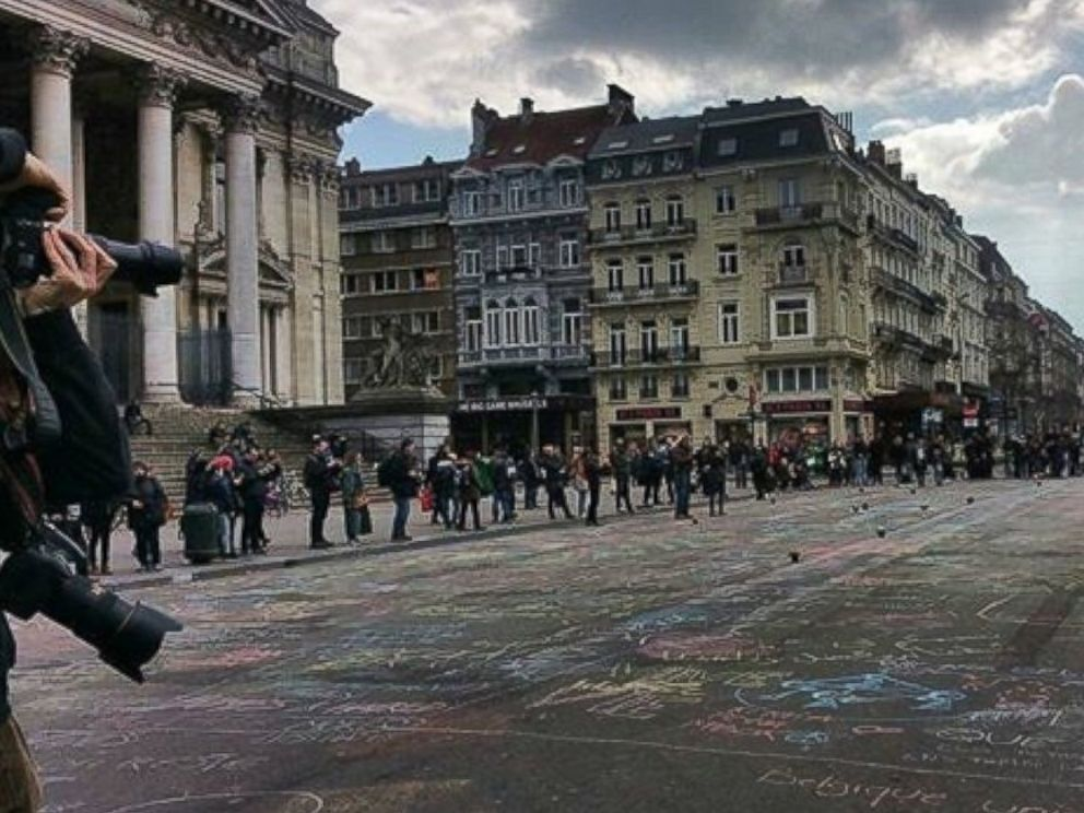PHOTO: Joey Leslie posted a photo on Instagram with the message: Magnificent people in a vibrant, resilient city. Honored to be here. #WEAREBRUSSELS