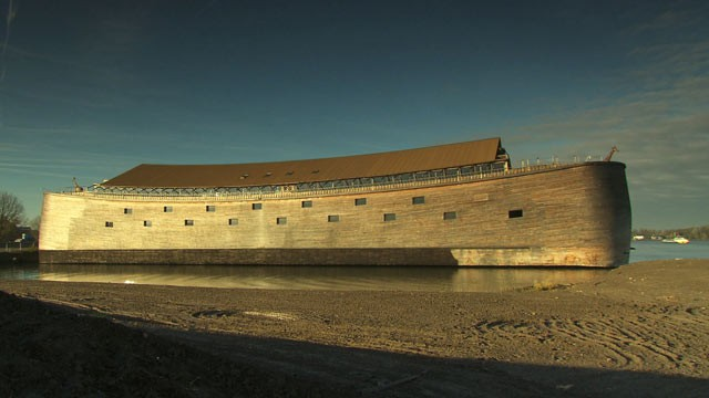 PHOTO: This ark, located an hour south of Amsterdam, is a replica of Noah's Biblical boat. Underwater archaeologist Bob Ballard is in Turkey, looking for evidence that the Great Flood happened.