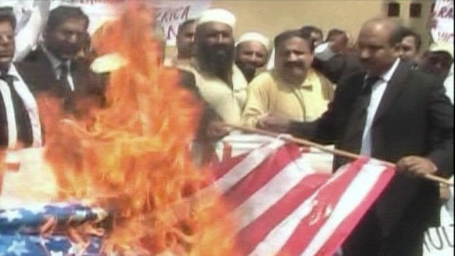 VIDEO: People in Pakistan and Afghanistan protest Rev. Terry Jones Koran-burning plan.