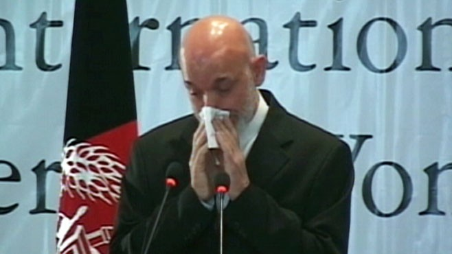 VIDEO: Hamid Karzai worries Afghanistan wont become stable enough to keep his son.