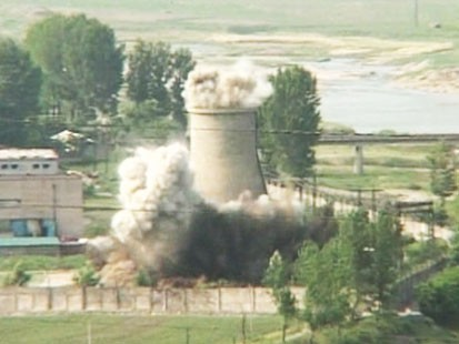 colling tower destroyed