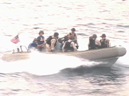VIDEO: U.S. Navy arrests a group of suspected pirates.