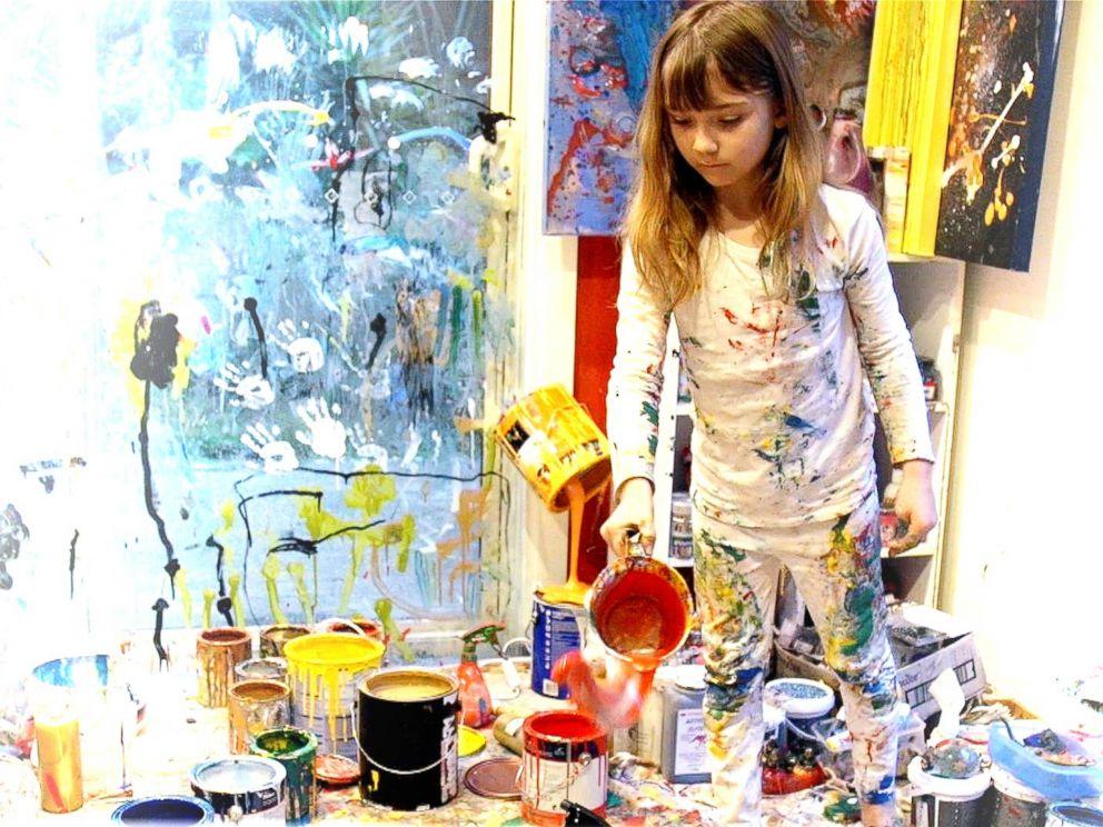 PHOTO: Aelita Andre at work in her studio nicknamed Aelitas Magical World.