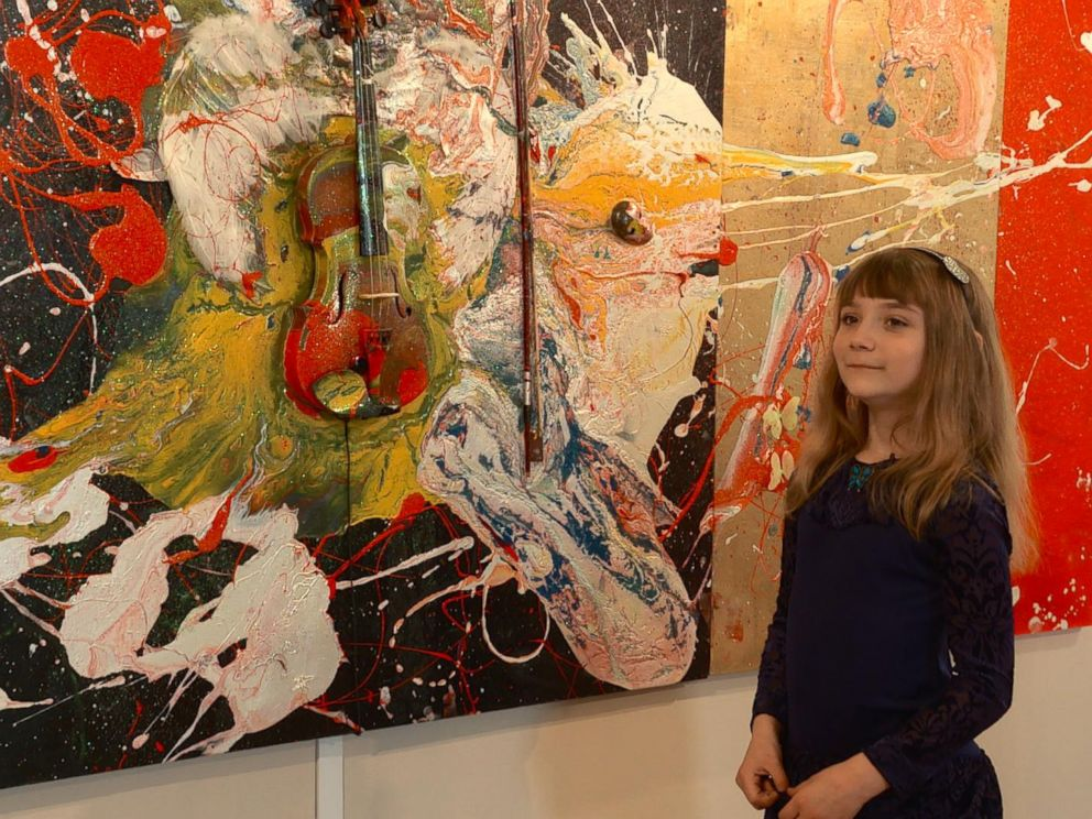 Aelita Andre, 9-Year-Old Abstract Painter Opens Solo Show