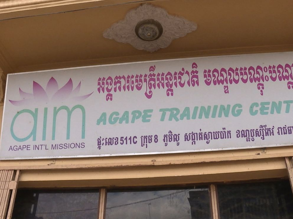Outside of Agape International Missions (AIM), an organization dedicated to fighting child sex trafficking in Cambodia.