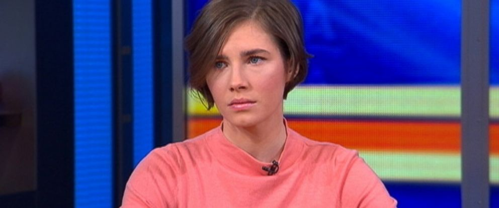 "PHOTO: Amanda Knox talks with ""Good Morning America"" about her recent conviction, Jan. 31, 2014, in New York CIty."