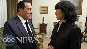 Christiane Amanpour speaks with Egyptian President Hosni Mubarak in an exclusive interview