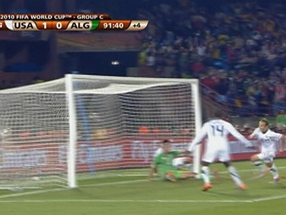 VIDEO: Landon Donovans goal results in a 1-0 win over Algeria at the World Cup.