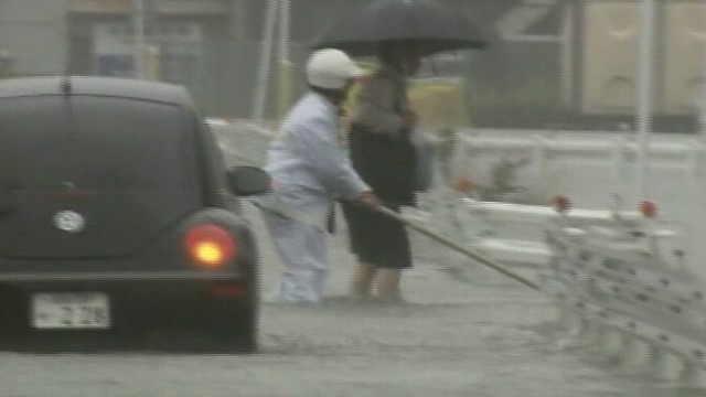 VIDEO: Major storm floods areas still reeling from earthquake in March.