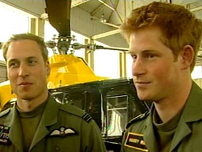 VIDEO: British princes show their brotherly love while preparing for pilot tests.
