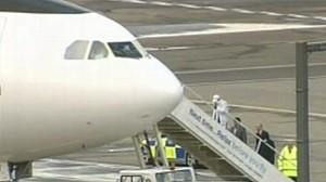 VIDEO: Pan Am 103 bomber Abdel Basset Ali al-Megrahi boards a plane departing from Scotland.