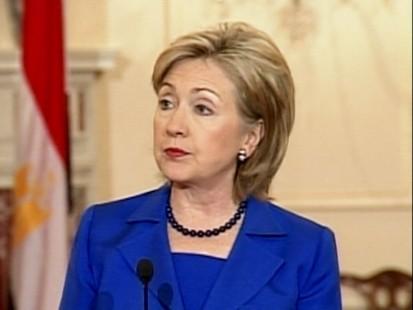 VIDEO: Secretary Clinton calls for a halt on Israeli settlement activities.