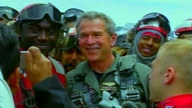 VIDEO: Pres. Bush applauds troops on the USS Abraham Lincoln for success in Iraq.